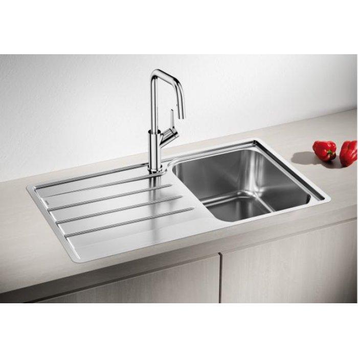 BLANCO LEMIS 45 S-IF rozsdamentes acél mosogatótálca csaplyuk nélkül