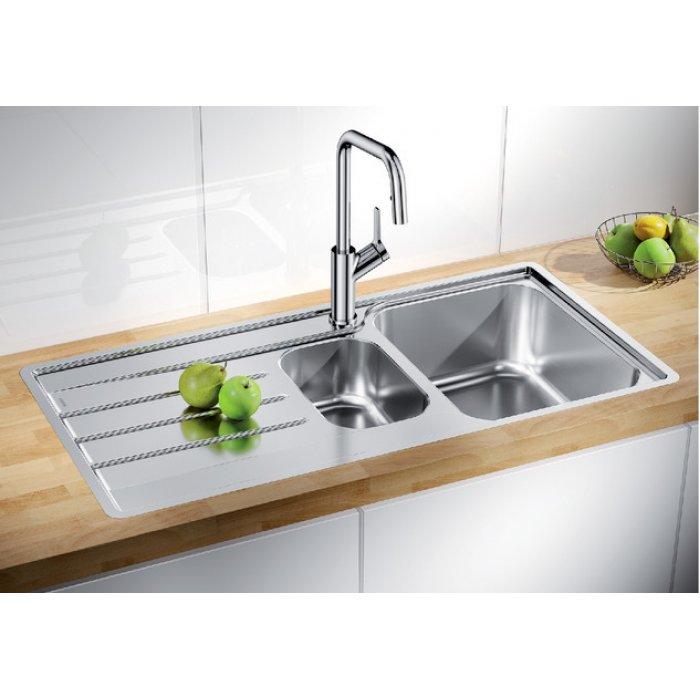 BLANCO LEMIS 6 S-IF rozsdamentes acél mosogatótálca csaplyuk nélkül