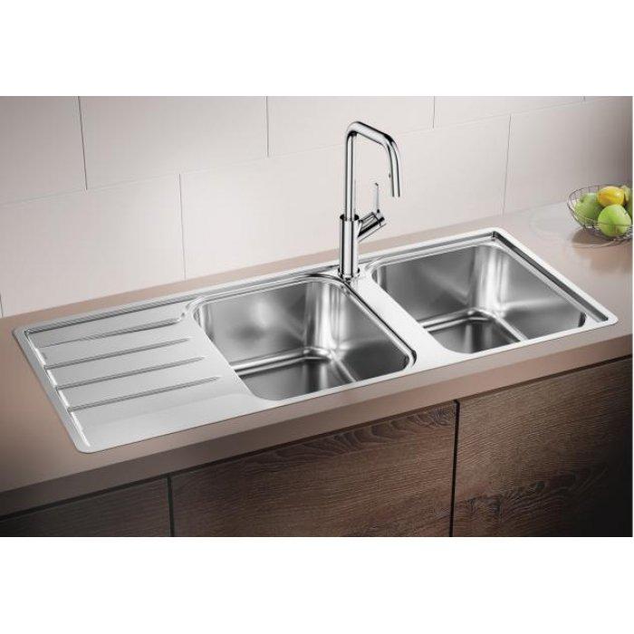 BLANCO LEMIS 8 S-IF rozsdamentes acél mosogatótálca csaplyuk nélkül