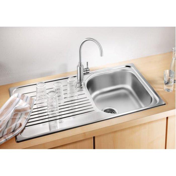 BLANCO TIPO 45 S Compact rozsdamentes acél mosogatótálca, szövetmintás