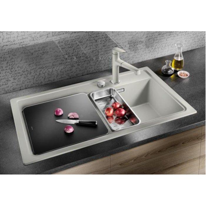 BLANCO ZENAR 5S silgranit mosogatótálca 10 féle színben üveg vágódeszkával, jobbos