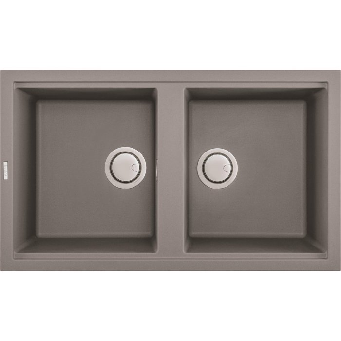 Elleci BEST 450 granitek mosogatótálca G48 cemento színben