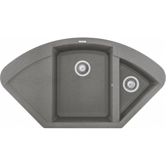 Elleci EASY CORNER granitek mosogatótálca G48 cemento színben