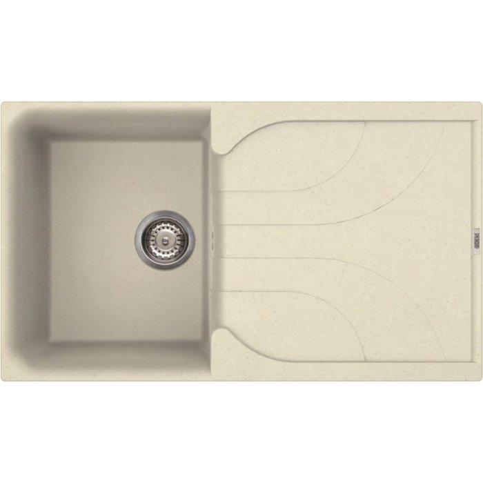 Elleci EGO 400 granitek mosogatótálca G62 bianco antico színben
