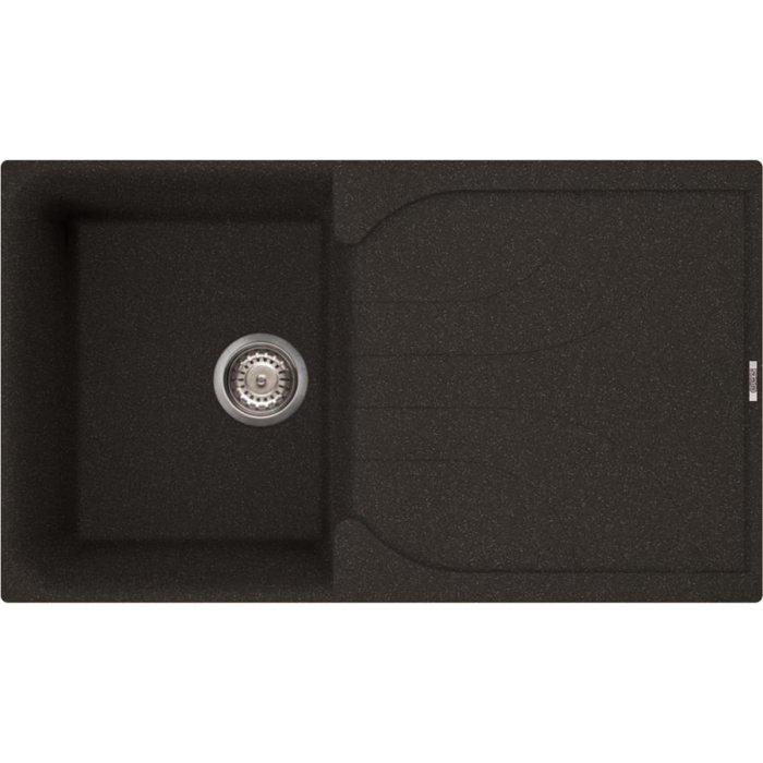 Elleci EGO 400 granitek mosogatótálca G54 nero pietra színben