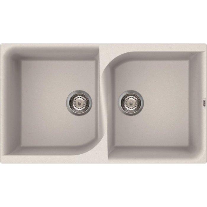 Elleci EGO 450 granitek mosogatótálca bianco titano színben
