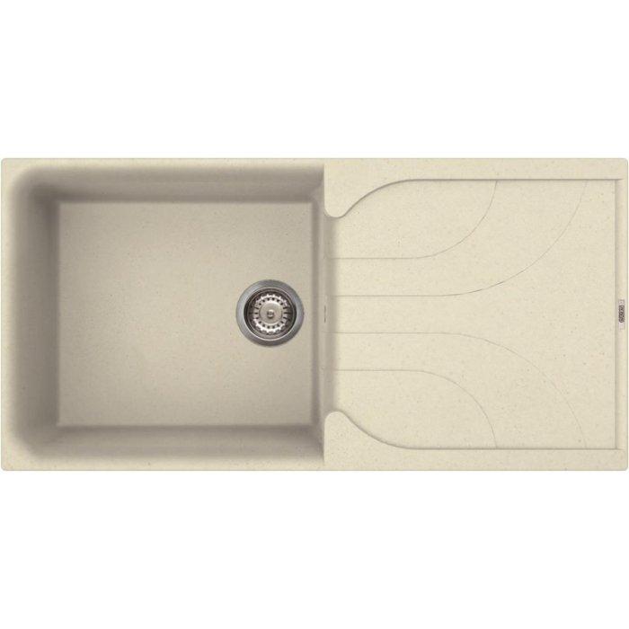 Elleci EGO 480 granitek mosogatótálca G62 bianco antico színben