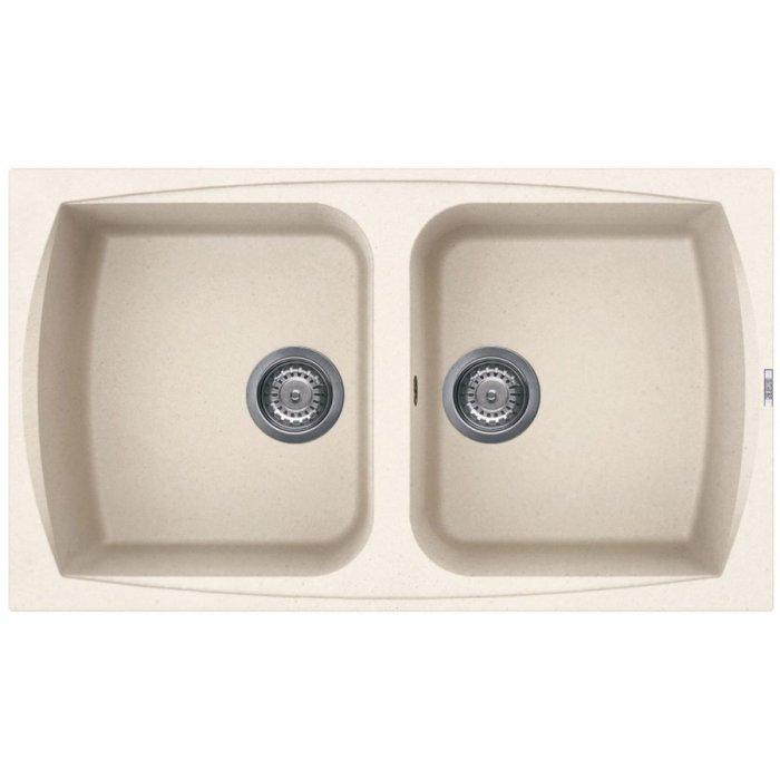 Elleci LIVING 450 granitek mosogatótálca G62 bianco antico színben