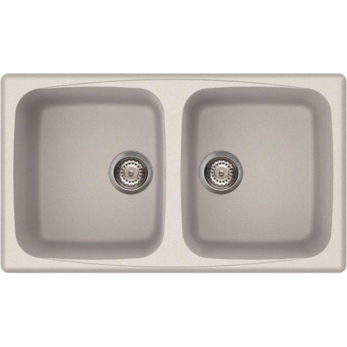 Elleci MASTER 450 granitek mosogatótálca bianco titano színben