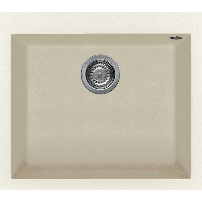 Elleci QUADRA 105 granitek mosogatótálca bianco antico színben