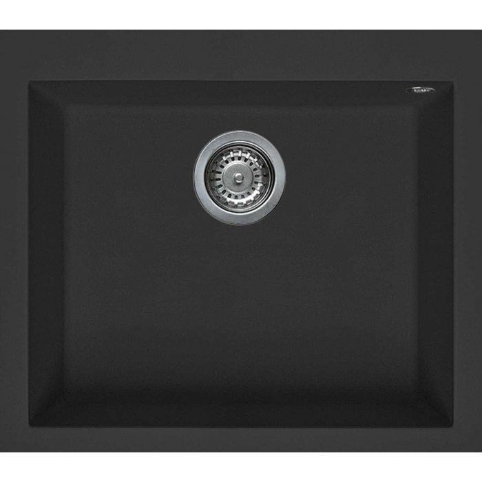 Elleci QUADRA 105 granitek mosogatótálca G40 nero színben