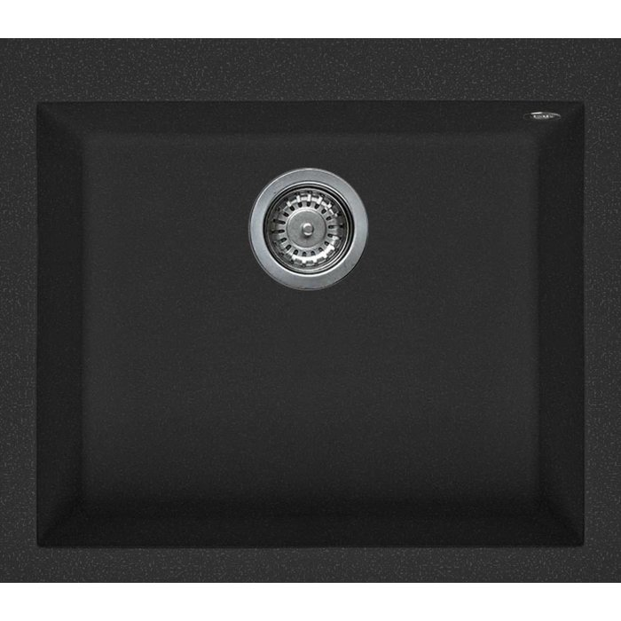 Elleci QUADRA 105 granitek mosogatótálca nero színben