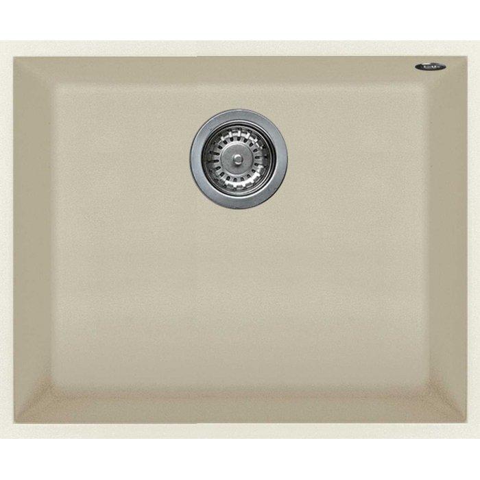 Elleci QUADRA 105 granitek undermount mosogatótálca G62 bianco antico színben
