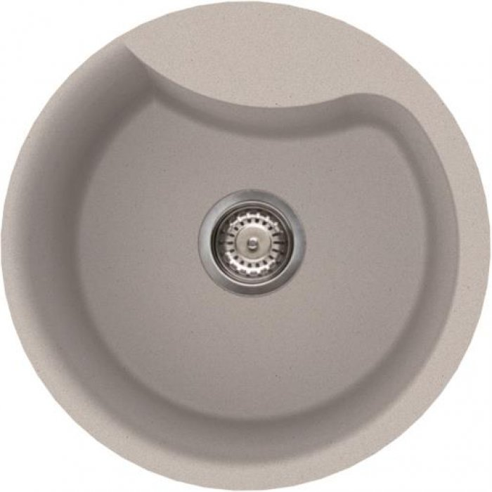 Elleci EGO ROUND metaltek mosogatótálca M79 aluminium színben