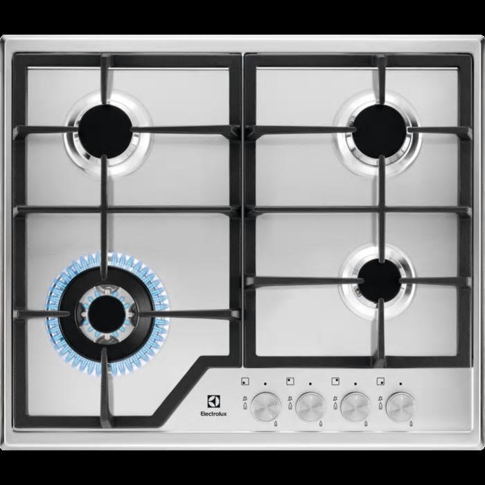 Electrolux KGS 6436 SX gáz főzőlap wok égővel (KGS6436SX)