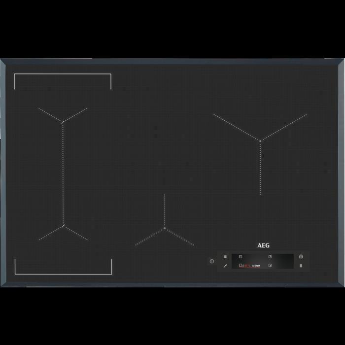AEG IAE 84881 FB SensePro beépíthető indukciós főzőlap, maghőmérő, Hob2Hood, Bridge funkció (IAE84881FB)