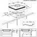 Electrolux EIS 6448 SenseFry beépíthető indukciós főzőlap, Bridge funkció, Hob2Hood (EIS6448)