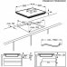 Electrolux EIS 6648 SensePro beépíthető indukciós főzőlap, Bridge funkció, Hob2Hood, maghőmérő (EIS6648)