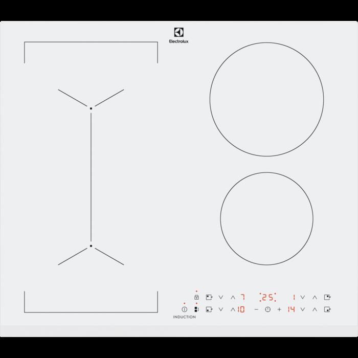 Electrolux LIV 63431 BW fehér színű indukciós főzőlap, Bridge funkció (LIV63431BW)