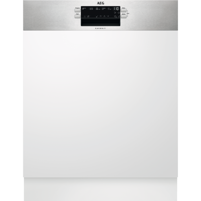 AEG FES 5395 XZM részlegesen beépíthető mosogatógép, MaxiFlex fiók, AirDry, 14 teríték, LED kijelző (FES5395XZM)
