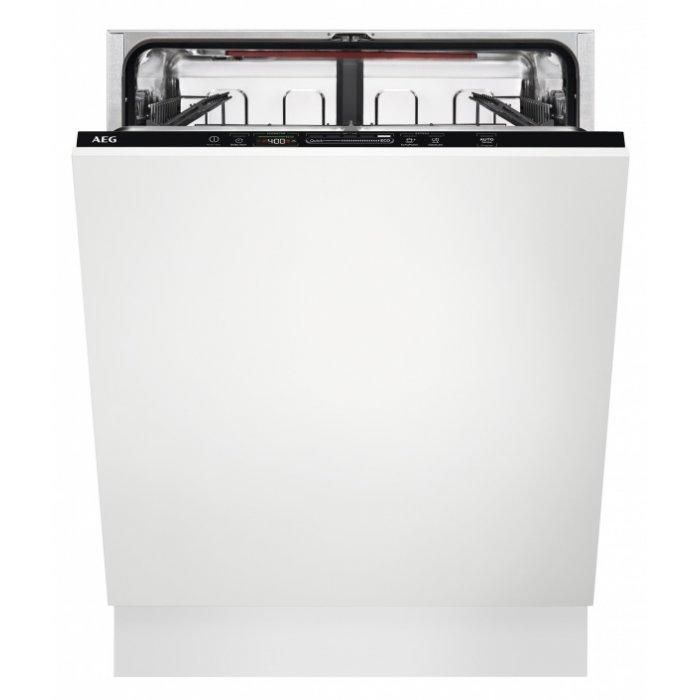 Kifutott AEG FSB 53637 P teljesen beépíthető mosogatógép, QuickSelect kezelőpanel, AirDry, 13 teríték, LED kijelző (FSB53637P)