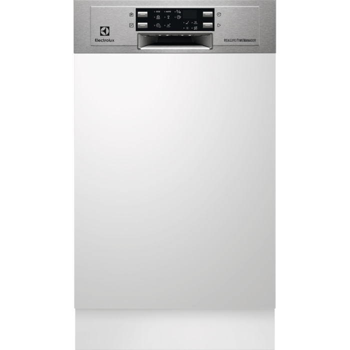 Electrolux ESI 4501 LOX kezelőpaneles 45cm széles beépíthető mosogatógép, 9 teríték, AirDry, 6 program, A+ AJÁNDÉKKAL (ESI4501LOX)