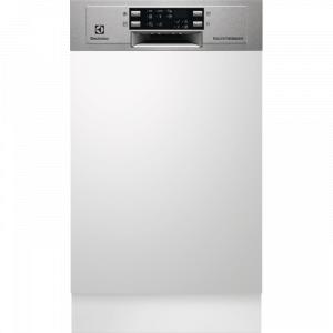 Electrolux ESI 4621 LOX kezelőpaneles 45cm széles beépíthető mosogatógép, 9 teríték, AirDry, 6 program, A++ AJÁNDÉKKAL (ESI4621LOX)