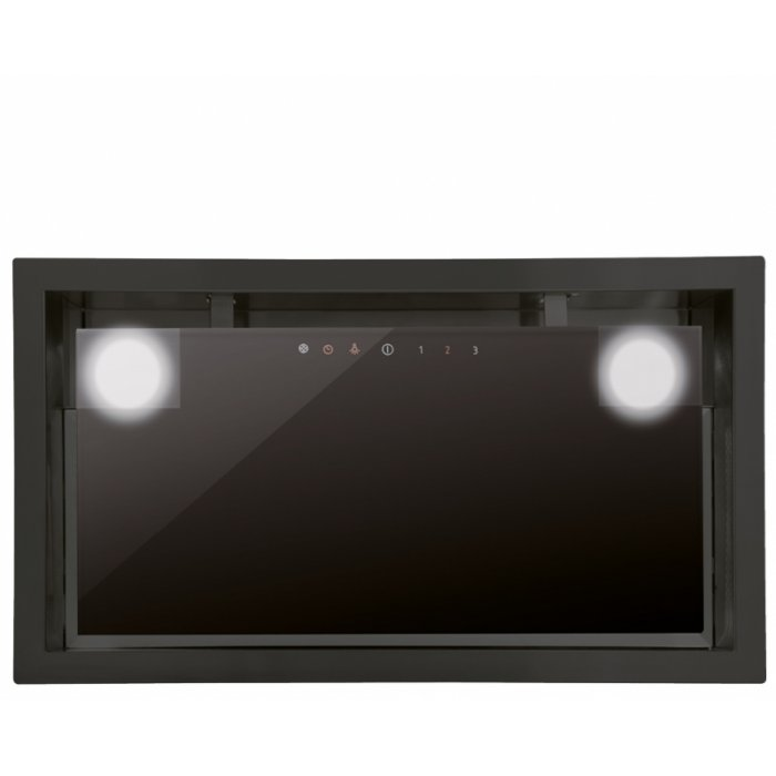 Cata GC DUAL 75 XGBK/D fekete álkürtőbe építhető páraelszívó ajándék bekötő szettel