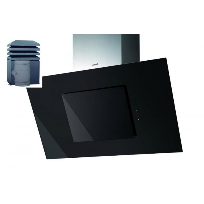 Cata Thalassa 900 Silent Split Exterior fekete fali páraelszívó