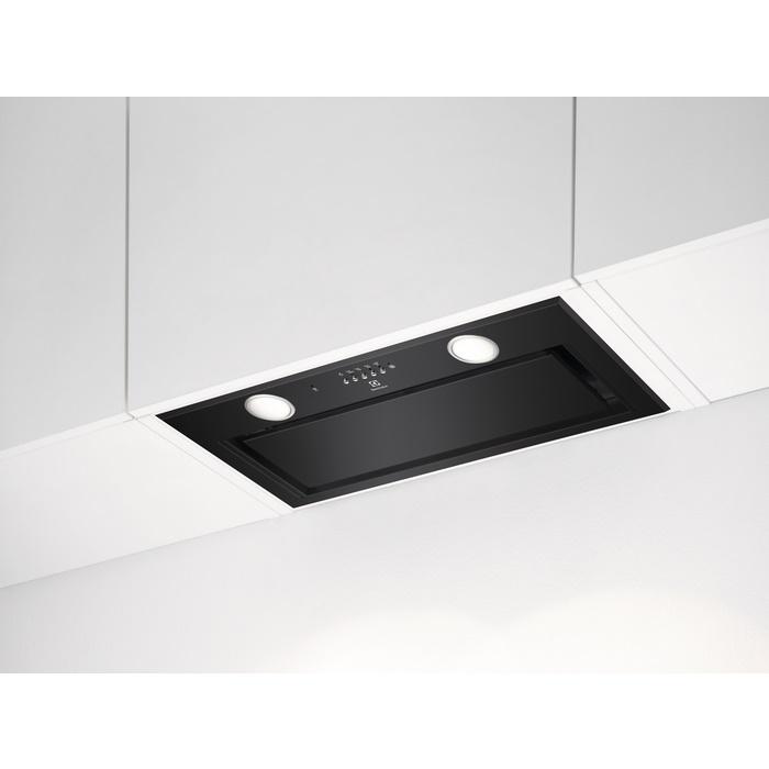 Electrolux LFG 716 R álkürtőbe építhető matt fekete páraelszívó, 3+1 fokozat, Hob2Hood, 54 cm (LFG716R)