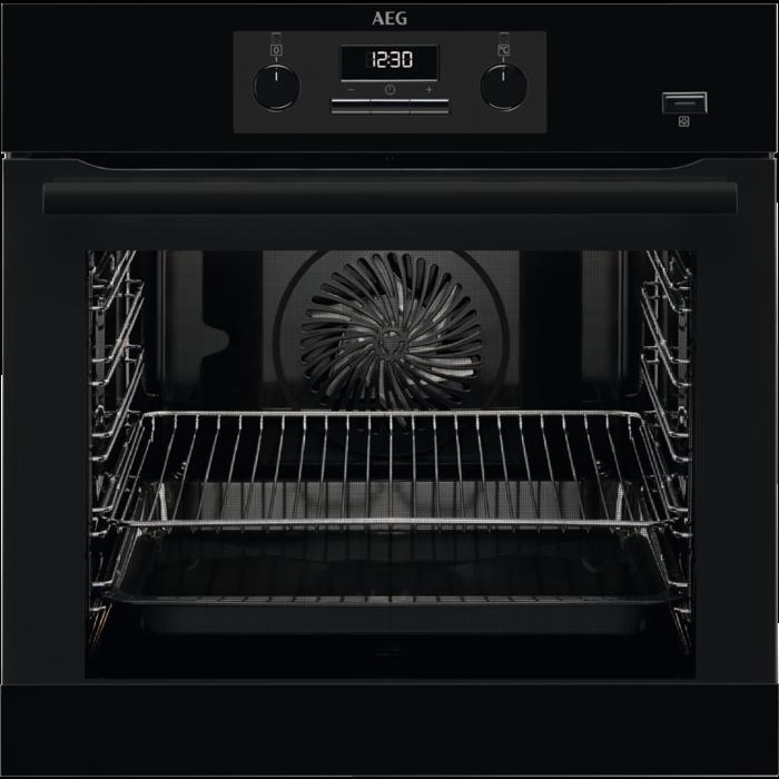 AEG BEB 351110 B fekete beépíthető PlusSteam multifunkciós sütő (BEB351110B)