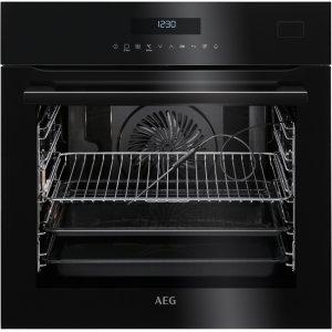 AEG BSE 782320 B fekete beépíthető gőzsütő maghőmérővel + ajándék szakácskönyv (BSE782320B)