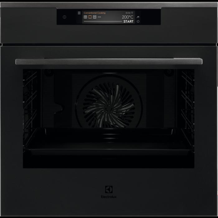 Electrolux KOEAP 31 WT SenseCook fekete beépíthető sütő, pirolitikus tisztítás, TFT érintőkijelző, Assisted Cooking, WIFI, maghőmérő AJÁNDÉKKAL* (KOEAP31WT)