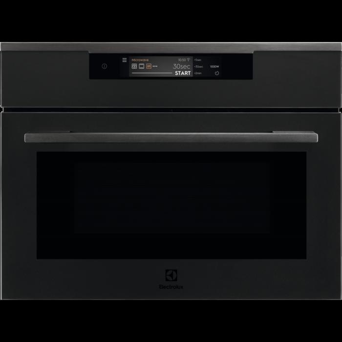Electrolux KVLAE 00 WT matt fekete beépíthető mikrohullámú kompakt sütő, WIFI, TFT érintőkijelző, Assisted Cooking AJÁNDÉKKAL* (KVLAE00WT)