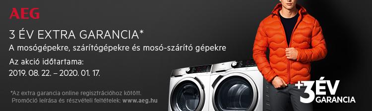 AEG mosógépek és szárítógépek extra garanciával