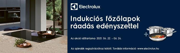 Electrolux beépített indukciós főzőlap ajándék edényszettel
